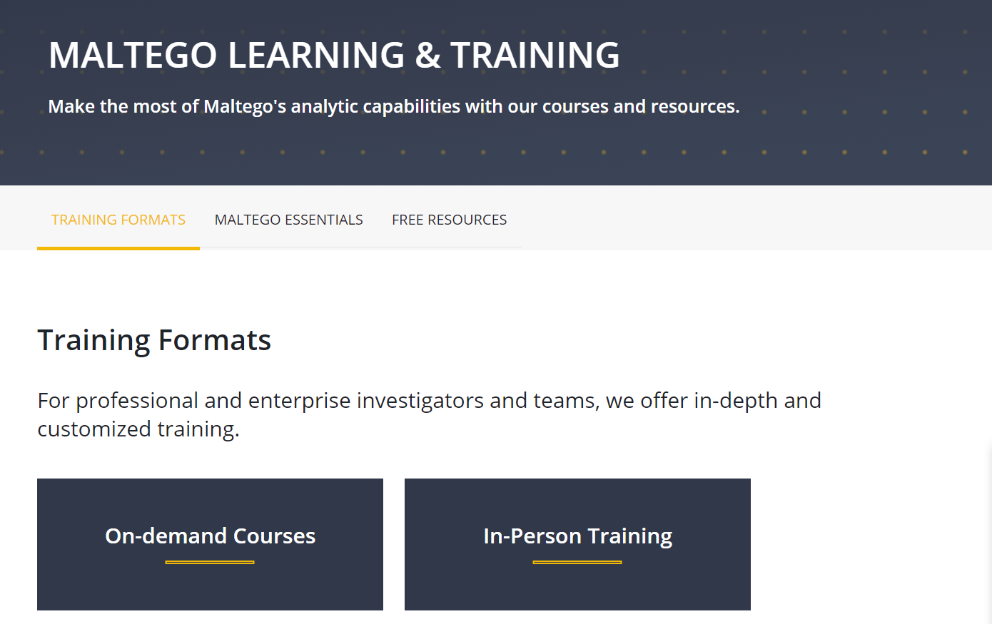 Maltego Learning Webpage Preview